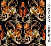 gold baroque old style 3d... | Shutterstock .eps vector #2060443670