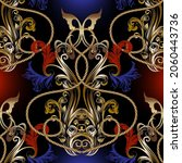 gold baroque old style seamless ... | Shutterstock .eps vector #2060443736