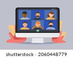 video conference icon. people...