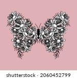 butterfly with flower wings ... | Shutterstock .eps vector #2060452799