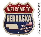 welcome to nebraska vintage... | Shutterstock .eps vector #2060455970