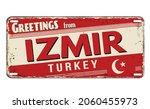 greetings from izmir vintage... | Shutterstock .eps vector #2060455973