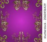 vector yellow  beige and violet ... | Shutterstock .eps vector #2060456429