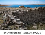 Remnants Of A Rock Wall In The...
