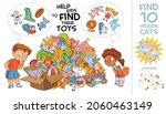 help kids find their toys. find ... | Shutterstock .eps vector #2060463149