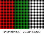 buffalo plaid textures set.... | Shutterstock .eps vector #2060463200