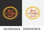 hello october lettering... | Shutterstock .eps vector #2060465816