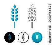 abstract grain rice icon...