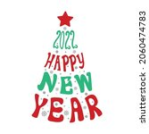 christmas trees written by the... | Shutterstock .eps vector #2060474783