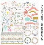 cute stylish decorative... | Shutterstock .eps vector #206048149