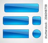 web buttons set   Shutterstock .eps vector #206048758
