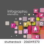 abstract squares background...