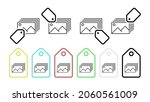 a photo vector icon in tag set...