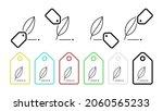 pen vector icon in tag set...