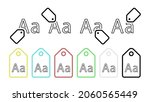 abc letter a vector icon in tag ...