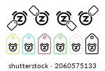 bell snooze vector icon in tag...