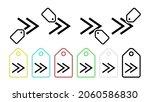 rewind vector icon in tag set...