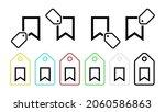 tab vector icon in tag set...