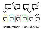 speech vector icon in tag set...