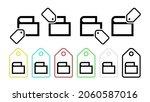 purse vector icon in tag set...