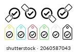check vector icon in tag set...