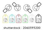pie chart line vector icon in...