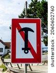German Water Navigation Sign  ...