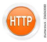 http orange computer icon | Shutterstock . vector #206063080