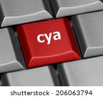 Small photo of Computer key - cya