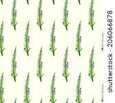 floral seamless pattern. vector ... | Shutterstock .eps vector #206066878