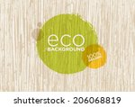 eco organic vector background... | Shutterstock .eps vector #206068819