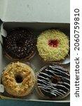 Various Doughnut In A Paper Box