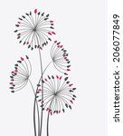 colorful floral background with ... | Shutterstock .eps vector #206077849