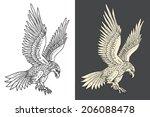 hand drawn illustration of the...   Shutterstock .eps vector #206088478