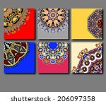 collection of decorative floral ... | Shutterstock .eps vector #206097358