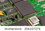 electronic circuit board with... | Shutterstock . vector #206107276