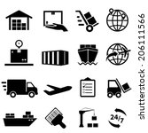 shipping  cargo and logistic... | Shutterstock .eps vector #206111566