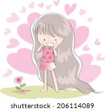 happy girl | Shutterstock . vector #206114089