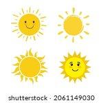 set of sun isolated on white...   Shutterstock .eps vector #2061149030