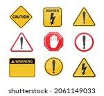 warning sign. blank warning...   Shutterstock .eps vector #2061149033
