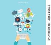 programming flat cloud... | Shutterstock .eps vector #206116618