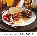 English Breakfast With Eggs ...