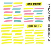 yellow colored highlighter.... | Shutterstock . vector #2061309623