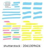 yellow highlight marker lines.... | Shutterstock . vector #2061309626