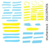 yellow colored highlighter.... | Shutterstock . vector #2061309656