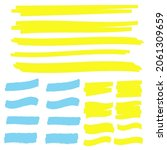 yellow colored highlighter.... | Shutterstock . vector #2061309659