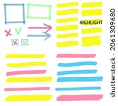 highlight marker lines.... | Shutterstock . vector #2061309680