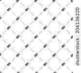 vector seamless pattern ... | Shutterstock .eps vector #206136220
