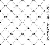 vector seamless pattern  3d... | Shutterstock .eps vector #206136268