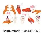 vector illustration set of...   Shutterstock .eps vector #2061378263